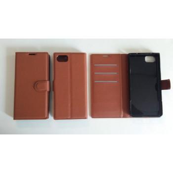 Blackberry Keyone - Wallet Case - Brown