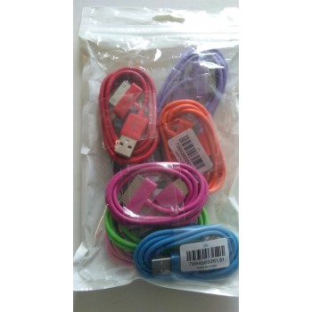 CLOSEOUT - Iphone 4/4s USB Cable Aftermarket/Generic -Assorted Colors