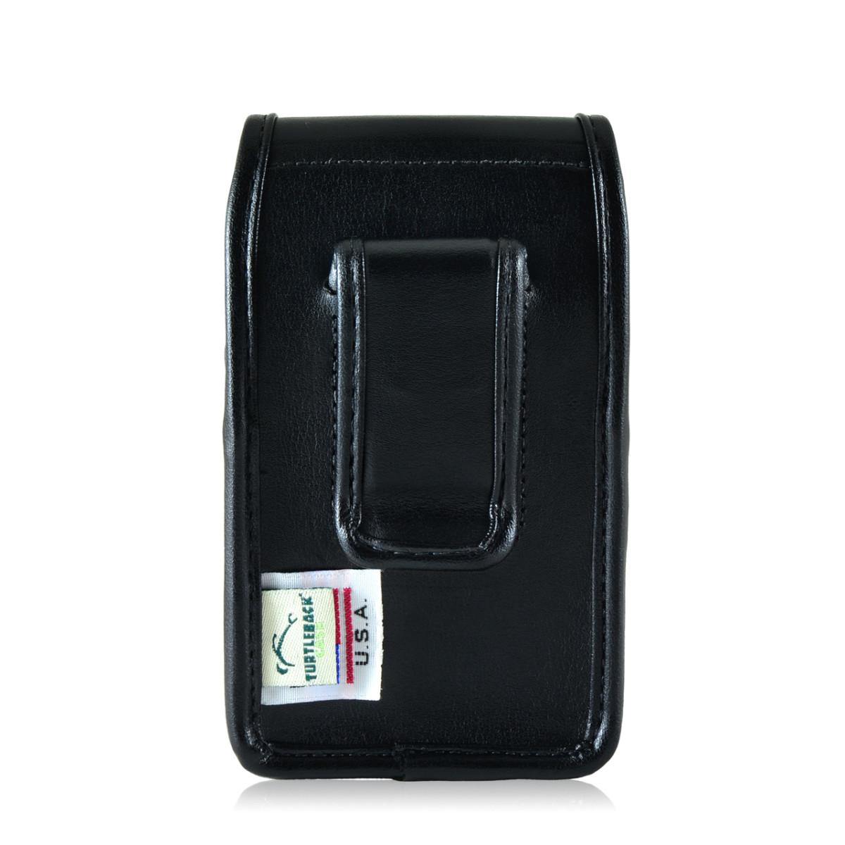 Blackberry Q10 9900 9600 Leather Holster Black Belt Clip