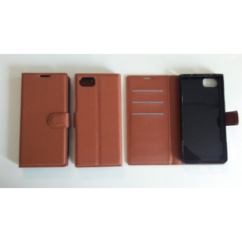 Blackberry Keyone - Wallet Case - Brown