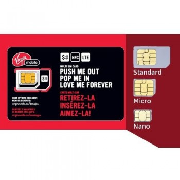 Virgin LTE Multi SIM Card