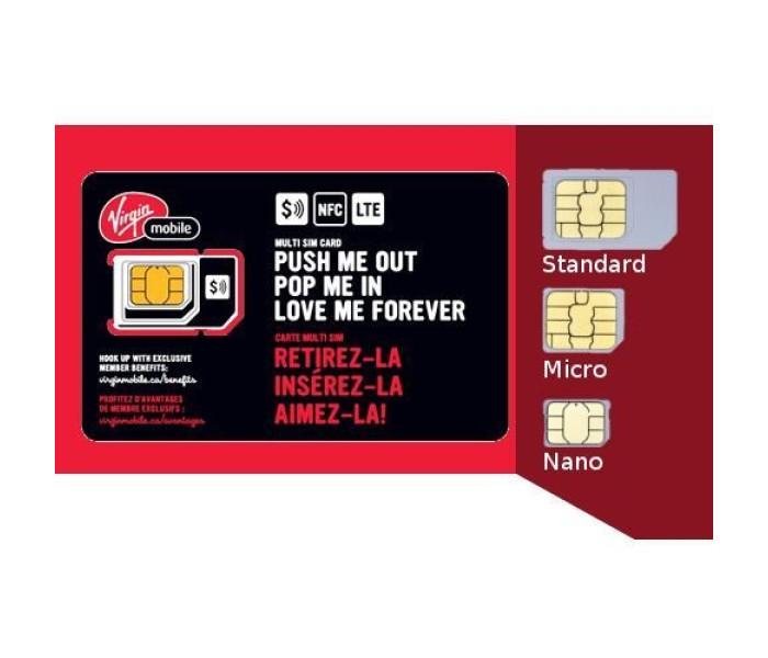 Virgin LTE Multi SIM Card