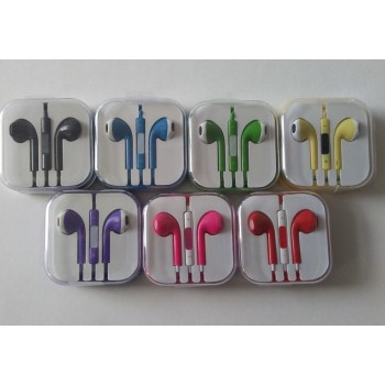 CLOSEOUT - Iphone 5/6 head phones in jewel case Aftermarket/Generic -Assorted Colors