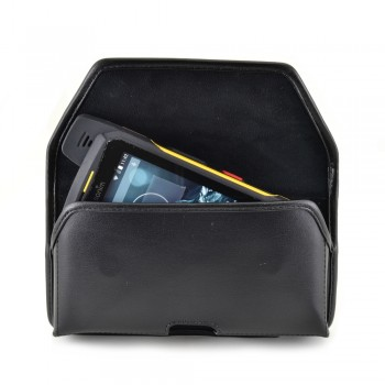 6.25 X 3.38 X 0.65 In Horizontal XXL Bulky Holster, Black Leather Pouch with Heavy Duty Rotating Belt Clip