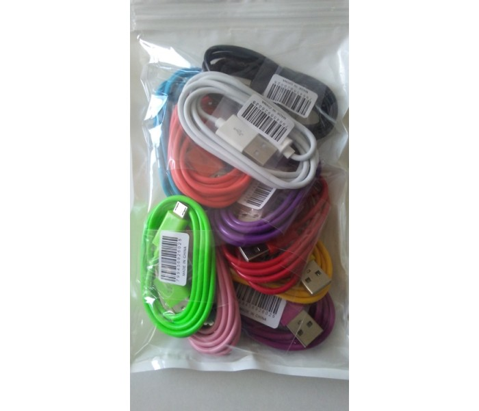 CLOSEOUT - Micro USB Cable Aftermarket/Generic -Assorted Colors