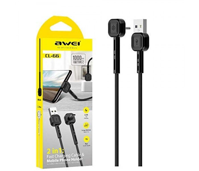 AWEI Fast charging cable and Mobile phone holder CL-66