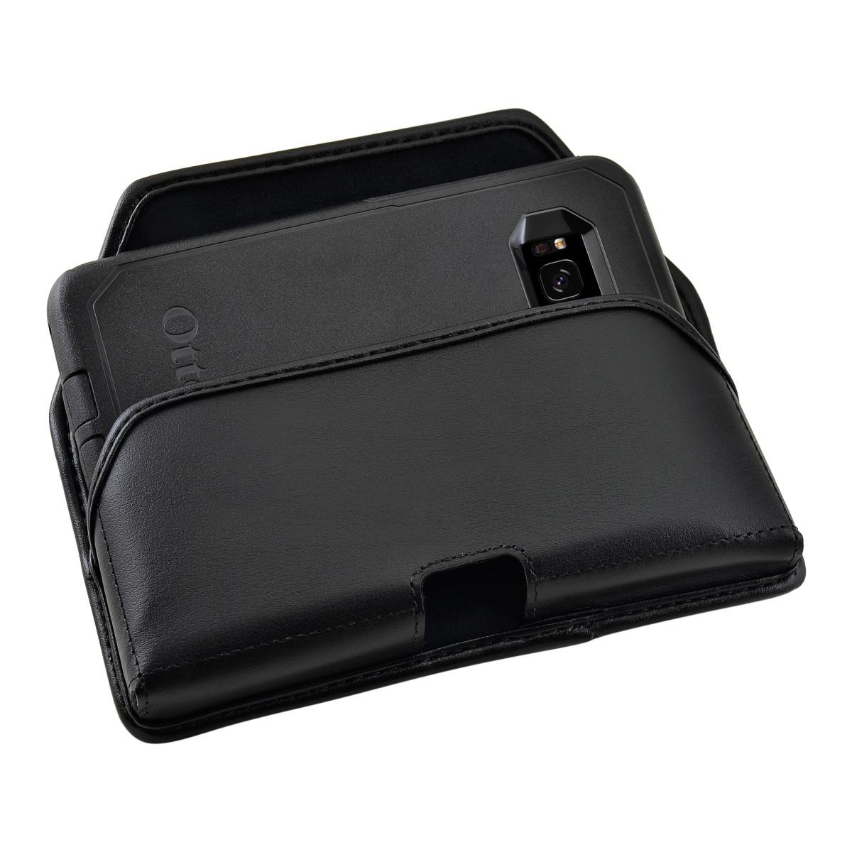 online retailer b8d40 93609 Galaxy S8 Holster Black Belt Clip Otterbox Commuter Leather