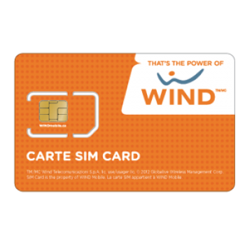 Wind Full Size SIM Card