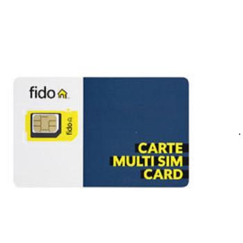 Fido LTE Multi SIM Card