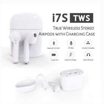 I7S TWS WIRELESS BLUETOOTH HEAD PHONES FOR IPHONES, SAMSUNG, LG, HUAWEI, SONY, BLACKBERRY ETC.